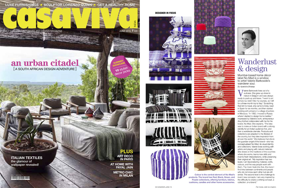 Casa Viva India Press June 2015
