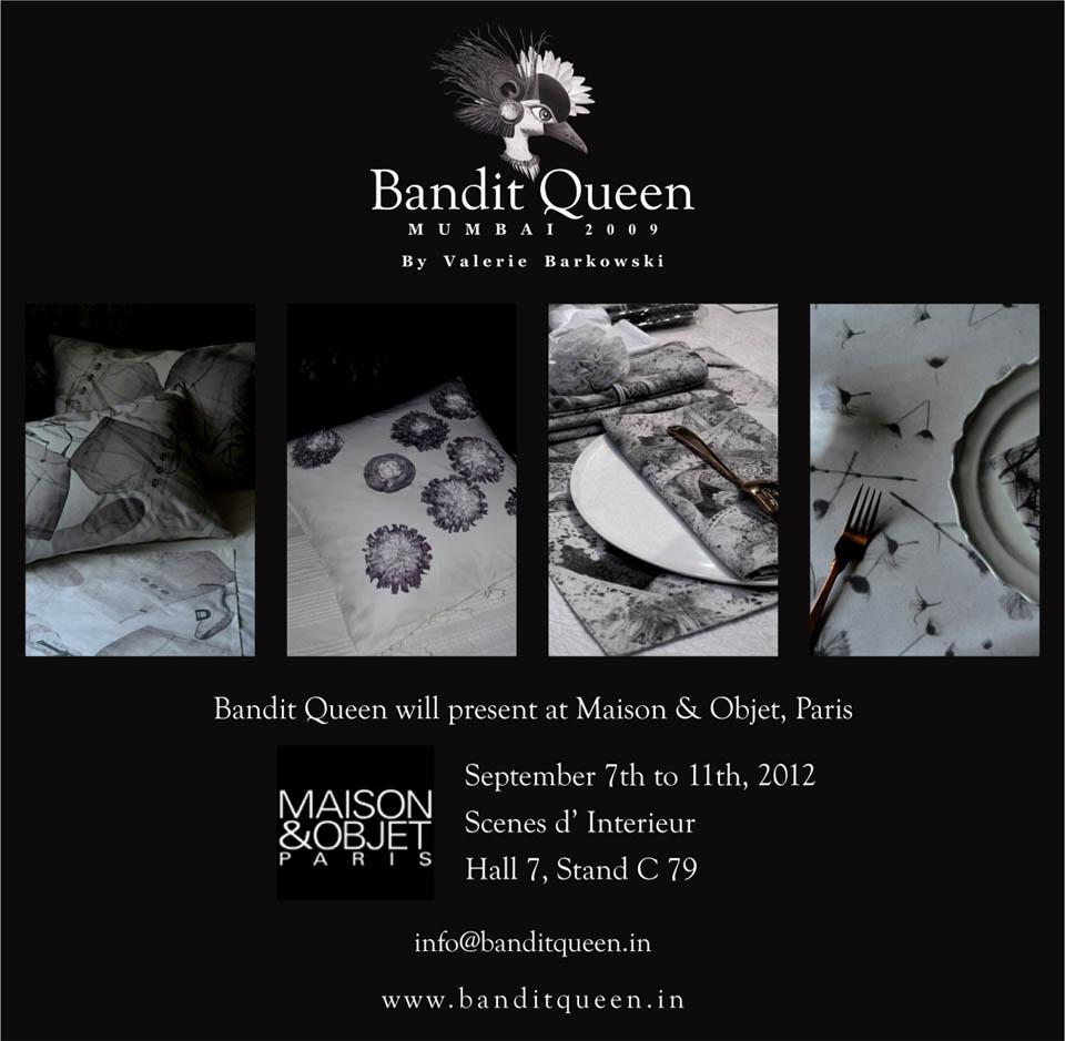 La marque Bandit Queen sera présente à Maison & Objet à Paris - 2012
