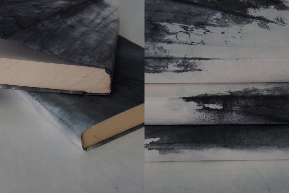 Tie & dye handmade paper by V. Barkowski