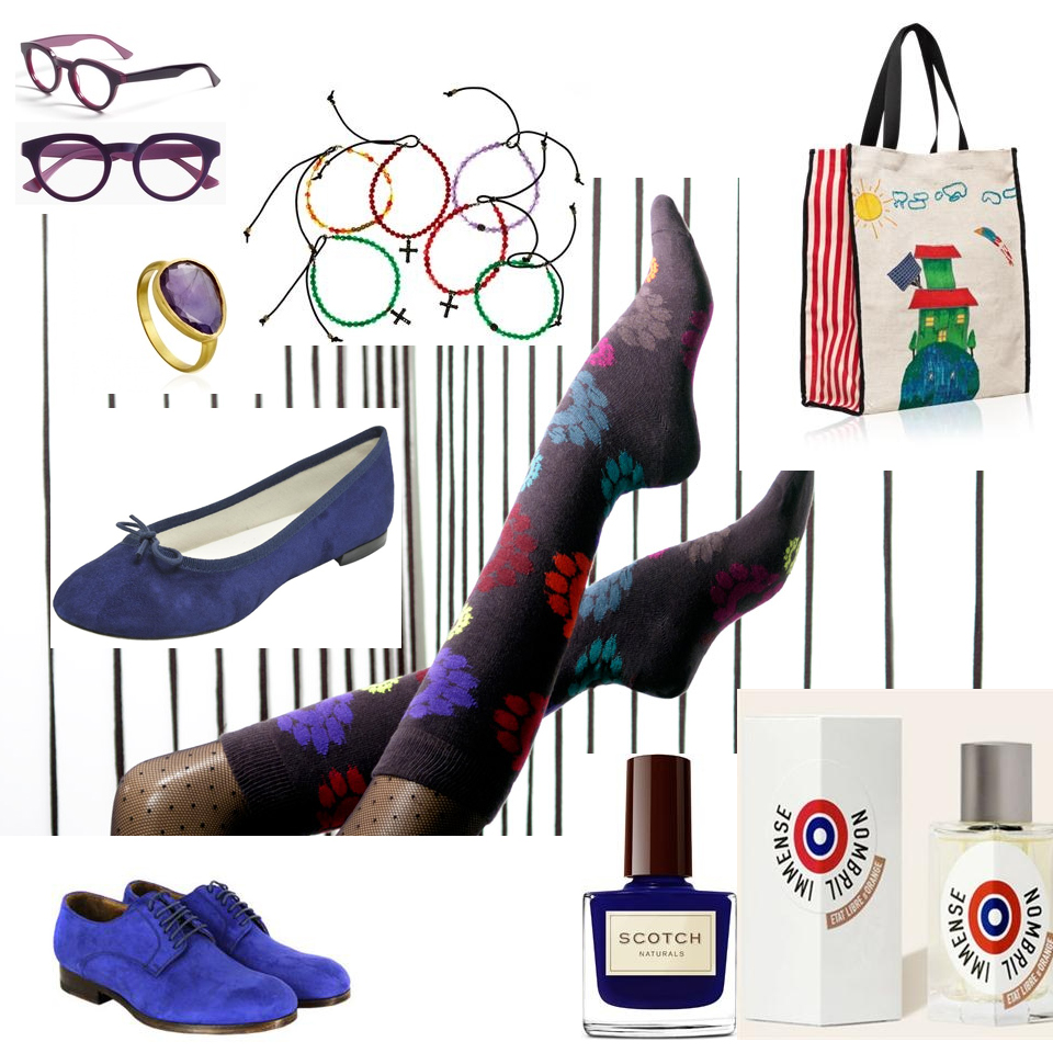 style sokistan moodboard chaussette kind of blue