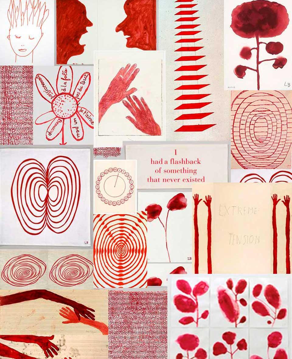 Louise Bourgeois et le rouge - Inspiration pour Valérie Barkowski