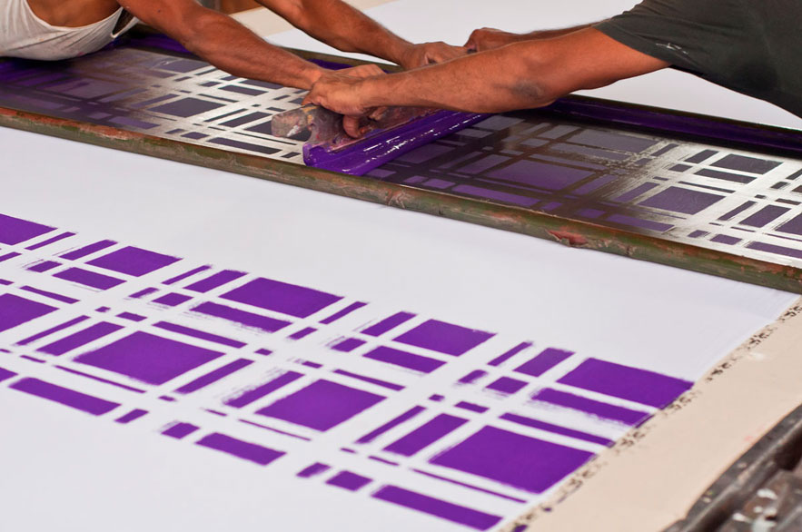 screen printing purple india