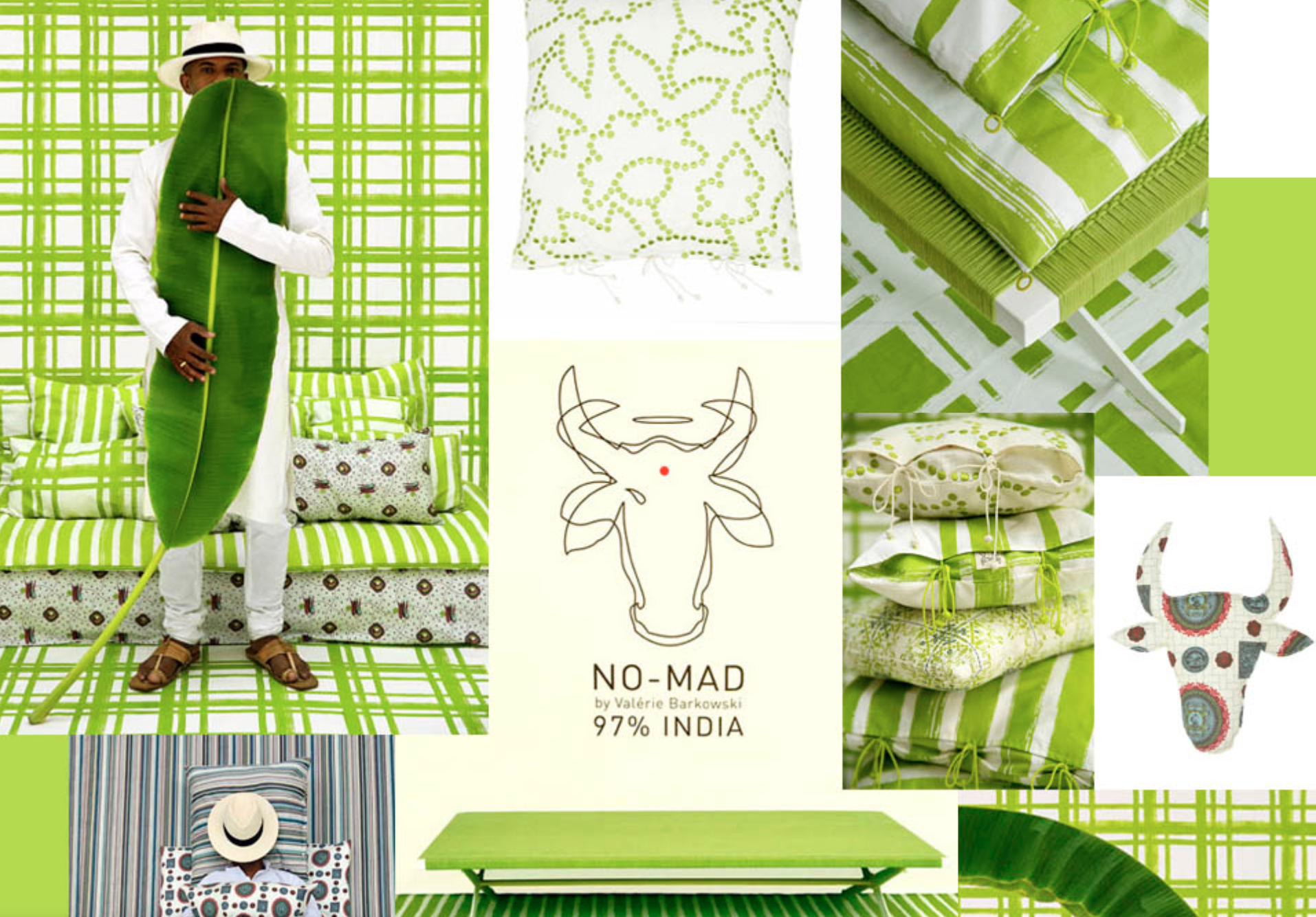 no mad india green hometextiles