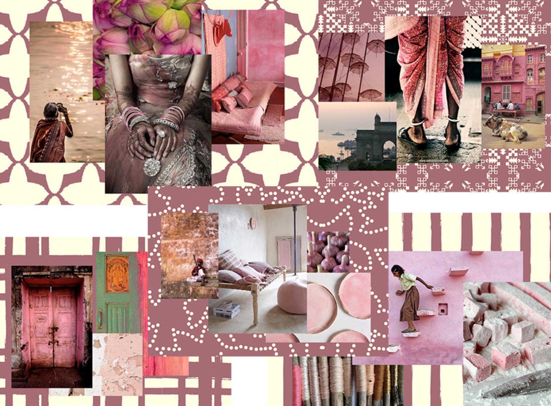 indian moodboard pink