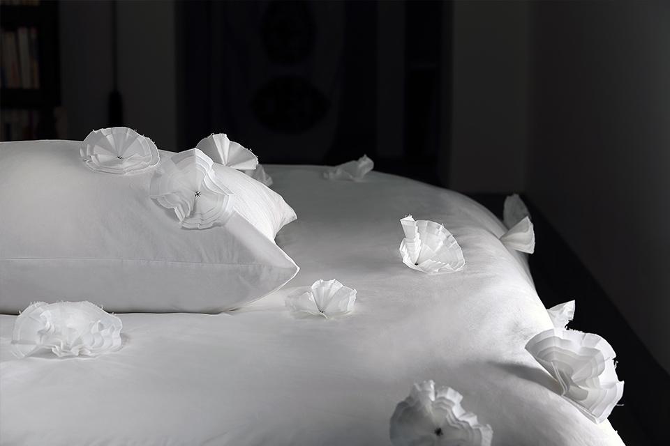 bedlinen tchampa white popeline