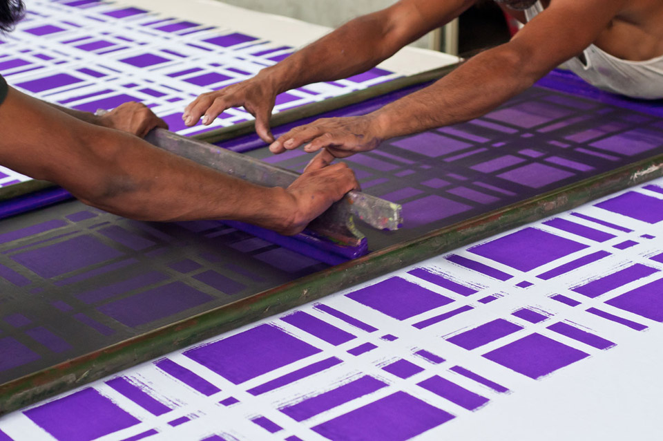 nomad india textile printing screen