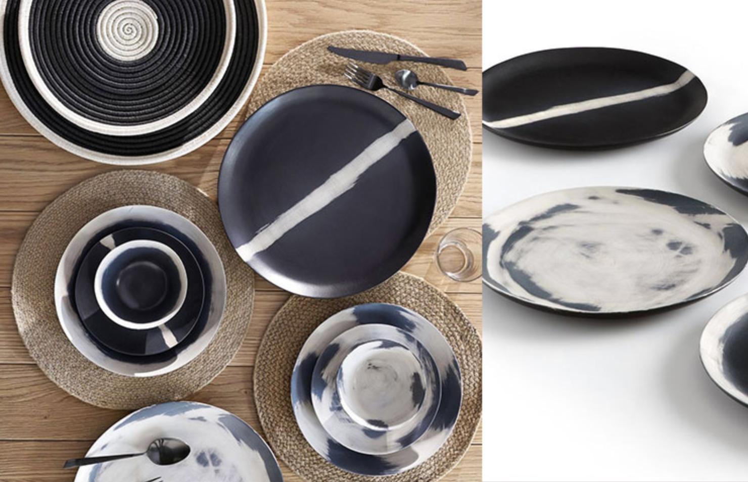 vaisselle noir blanc valerie barkowski design