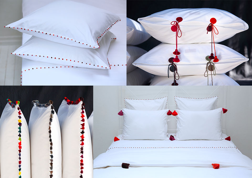 red mood embroidered bed linen vbarkowski