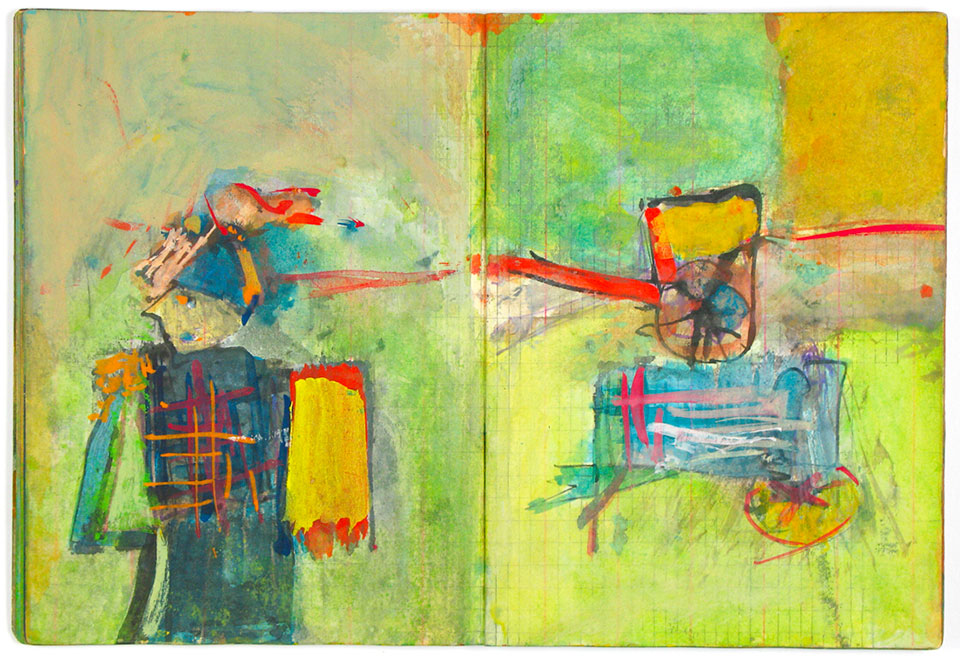 saul leiter sketchbook colors