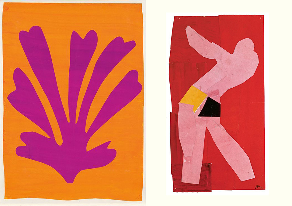 henri matisse inspiration watercolor collage