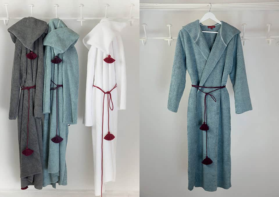 The bathrobe by Valérie Barkowski, home linen collection