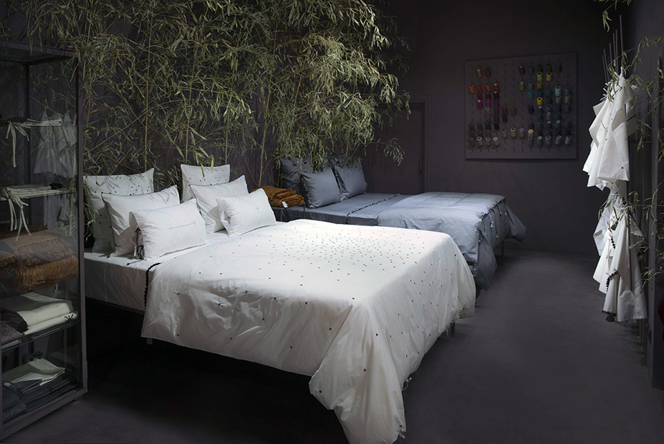 v.barkowski store beds display slow shopping hand embroidered bed linen