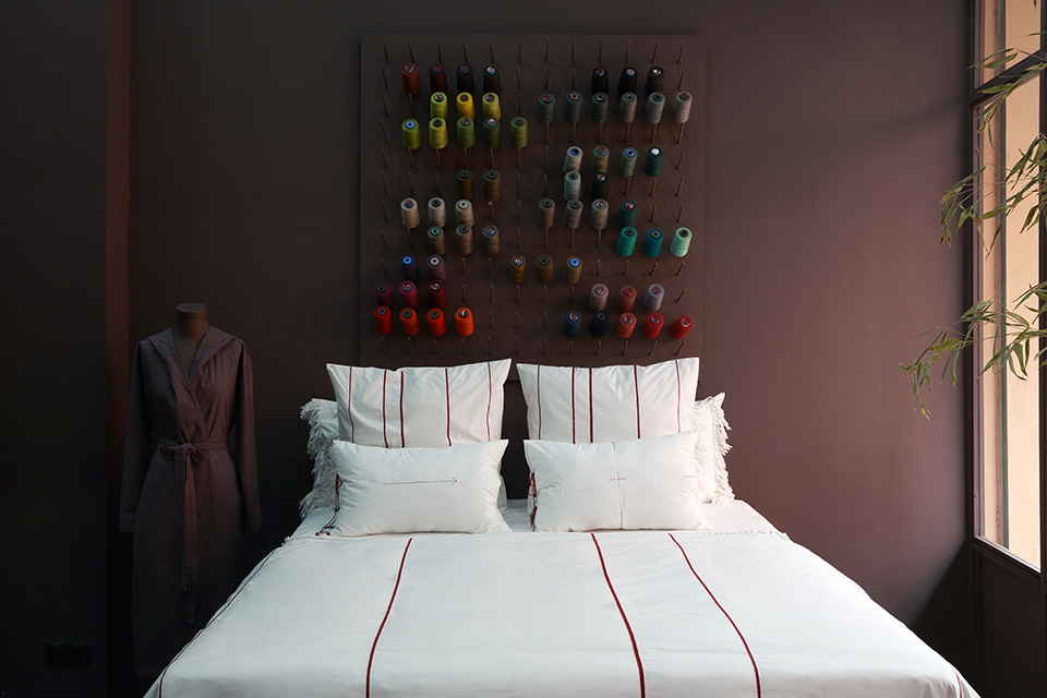 V.barkowski hand embroidered bed linen. Refined and timeless craft